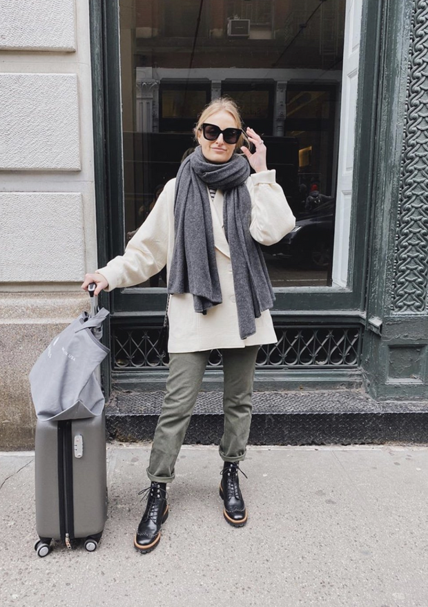 The Cashmere Travel Wrap Flannel