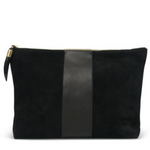 Black Leather Clutch
