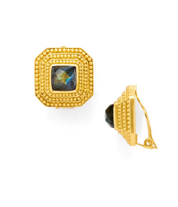 Luxor Clip-On Gold Earring
