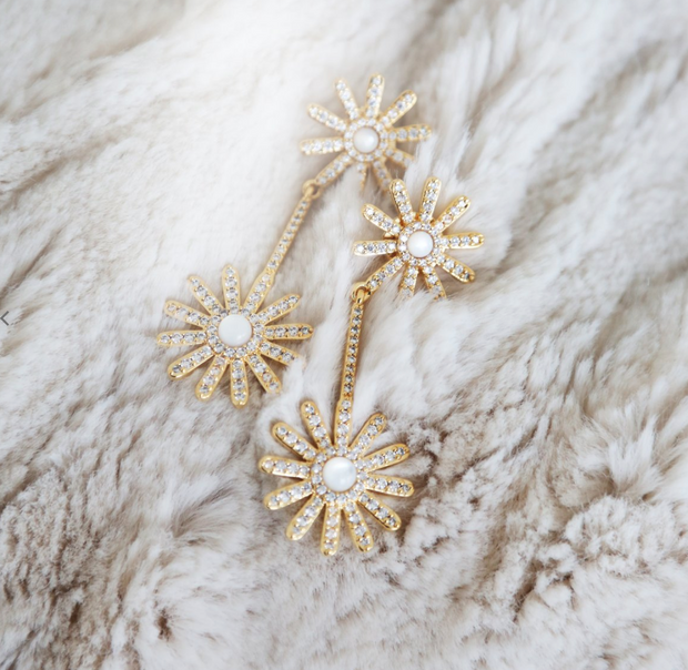 Daisy Pave Earring