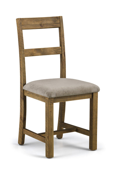 Aspen Distressed Rough Sawn Solid Pine Dining Set with 6 Chairs-Aspen Distressed Rough Sawn Solid Pine Dining Set 6 Chairs-Julian Bowen-GoFurn Furniture Store Kent
