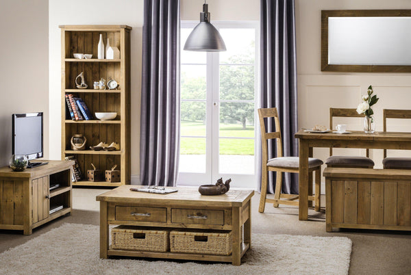 aspen rough sawn rustic pine complete living room range at gofurn kent