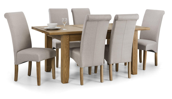 hadlow set of 6 hadlow grey dining chairs with astoria oak extending table