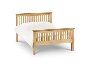 Barcelona Pine Double Bed 135cm with high foot end