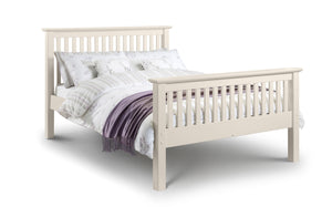 barcelona stone white double bed high foot end by julian bowen
