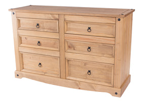 Corona Pine 3 plus 3 Large Chest of Drawers