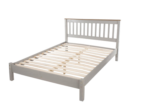 corona grey and pine double bed by core products at gofurn
