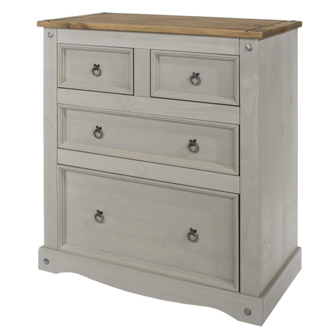 corona grey 2 plus 2 drawer chest of drawers
