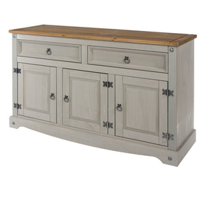 corona grey and mexican pine medium sideboard by core products