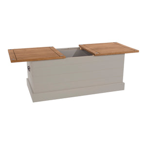 corona grey storage trunk table with sliding top by core products