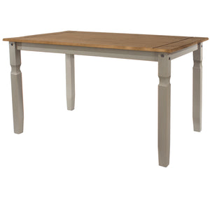 corona grey and mexican pine large dining table