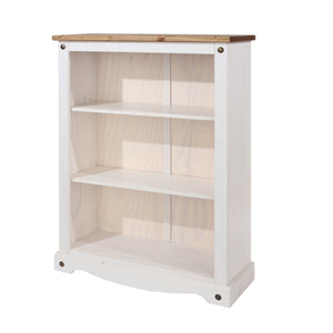 corona white wash low bookcase by core products