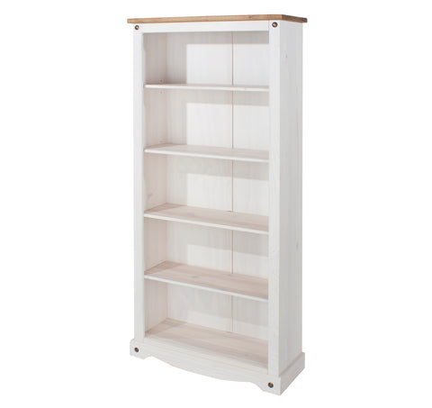 corona white wash tall bookcase by core products