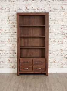 mayan walnut large bookcase at gofurn stores in maidstone kent