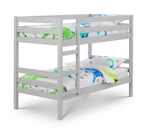 Camden dove grey bunk bed by julian bowen available at gofurn store in maidstone kent