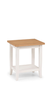 Davenport Oak and Ivory side end table at GoFurn in Kent