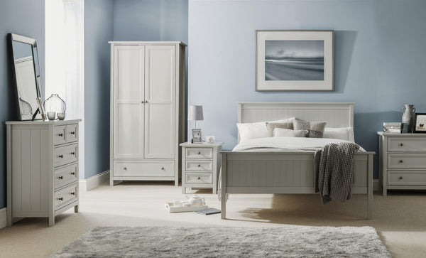 Maine Dove Grey 3 Drawer Chest-Maine Dove Grey 3 Drawer Chest Of Drawers-Julian Bowen-GoFurn Furniture Store Kent