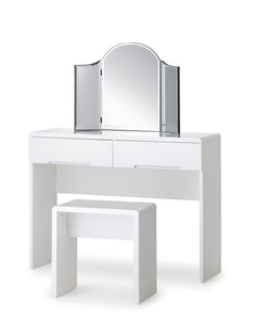 Manhattan White High Gloss Dressing Table-Manhattan White High Gloss Dressing Table-Julian Bowen-GoFurn Furniture Store Kent