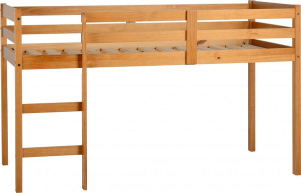 panama mid sleeper childrens bed in pine at gofurn in kent