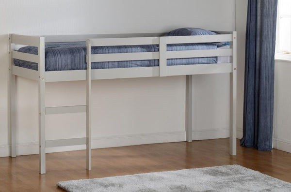 panama mid sleeper childrens bed in grey at gofurn kent