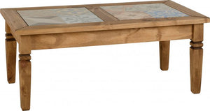 salvador tile top and rustic pine coffee table at gofurn