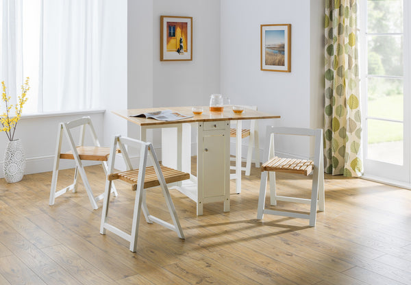 savoy small foldaway dining set in room setting
