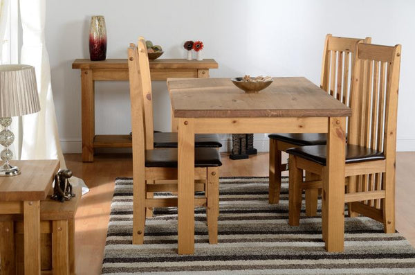 Tortilla Large Chunky Rustic Pine Dining Table with complete Tortilla Range