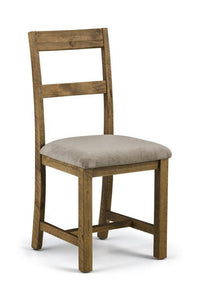 Aspen Distressed Rough Sawn Solid Pine Dining Chair-Dining Chairs-Julian Bowen-GoFurn Furniture Store Kent