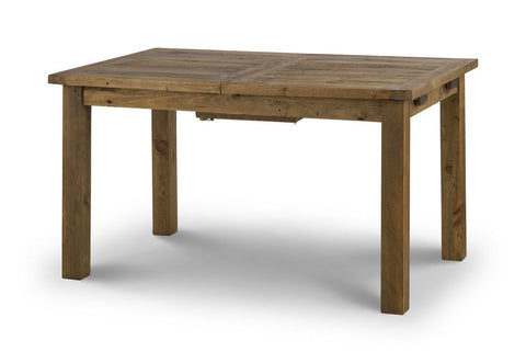 Aspen Distressed Rough Sawn Solid Pine Extending Dining Table-dining table rustic pine-Julian Bowen-GoFurn Furniture Store Kent