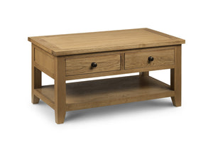 Astoria Oak Coffee Table Solid Oak-Oak Coffee Table-Julian Bowen-GoFurn Furniture Store Kent