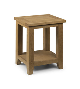 Astoria Oak Lamp Table-oak lamp Tables-Julian Bowen-GoFurn Furniture Store Kent