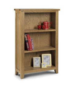 Astoria Oak Low Bookcase-oak Bookcases-Julian Bowen-GoFurn Furniture Store Kent