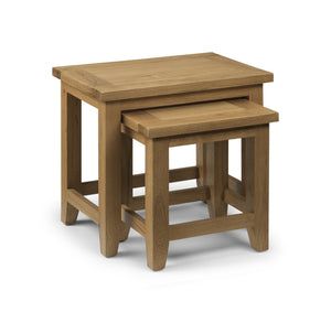 Astoria Oak Nest Of Tables Set of 2-Nest of Tables Oak-Julian Bowen-GoFurn Furniture Store Kent