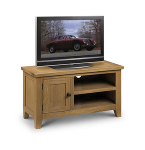 Astoria Oak TV Stand Unit-oak TV Units-Julian Bowen-GoFurn Furniture Store Kent