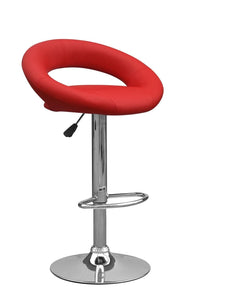 Aurora Bar Stool Red Leather-kitchen breakfast Bar Stools-shankar-GoFurn Furniture Store Kent