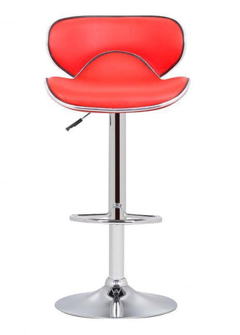 Bahama Swivel Bar Stool Red-kitchen breakfast red Bar Stools-Seconique-GoFurn Furniture Store Kent