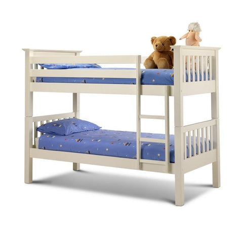 Barcelona Solid Stone White Bunk Bed-white Bunk Bed-Julian Bowen-GoFurn Furniture Store Kent