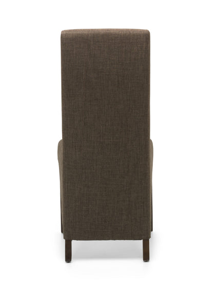Baxter Dining Chair Cinnamon Fabric Dark Legs-fabric dining chairs-shankar-GoFurn Furniture Store Kent