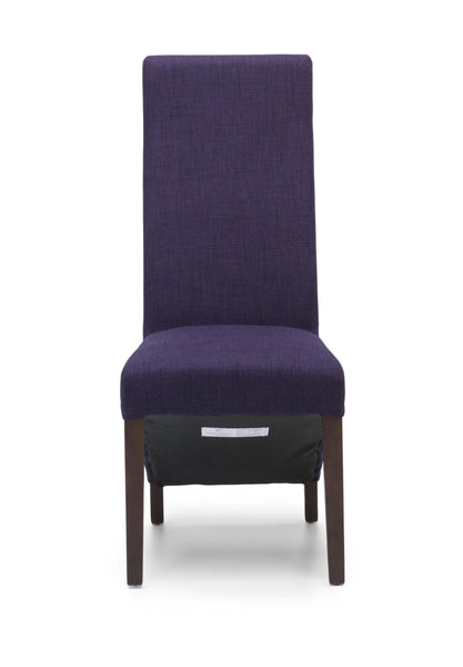 Baxter Dining Chair Plum Fabric Dark Legs-fabric dining chairs-shankar-GoFurn Furniture Store Kent