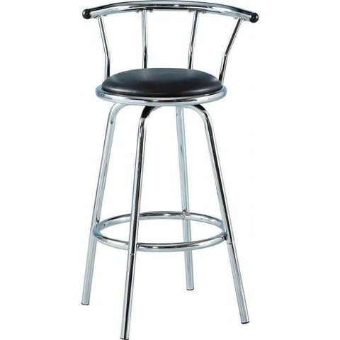 Bermuda Swivel Bar Stool in Black & Chrome-kitchen breakfast Bar Stools-Seconique-GoFurn Furniture Store Kent