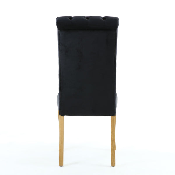 Bronte Brushed Velvet Black Dining Chair-fabric velvet dining chair-shankar-GoFurn Furniture Store Kent