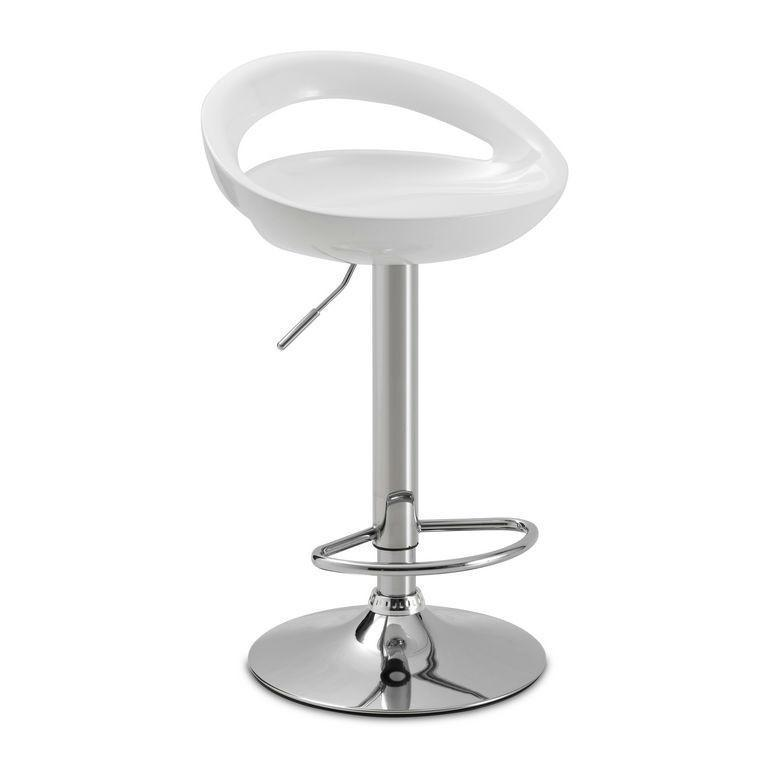 Byron Bar Stool White-kitchen breakfast white bar stools-Julian Bowen-GoFurn Furniture Store Kent