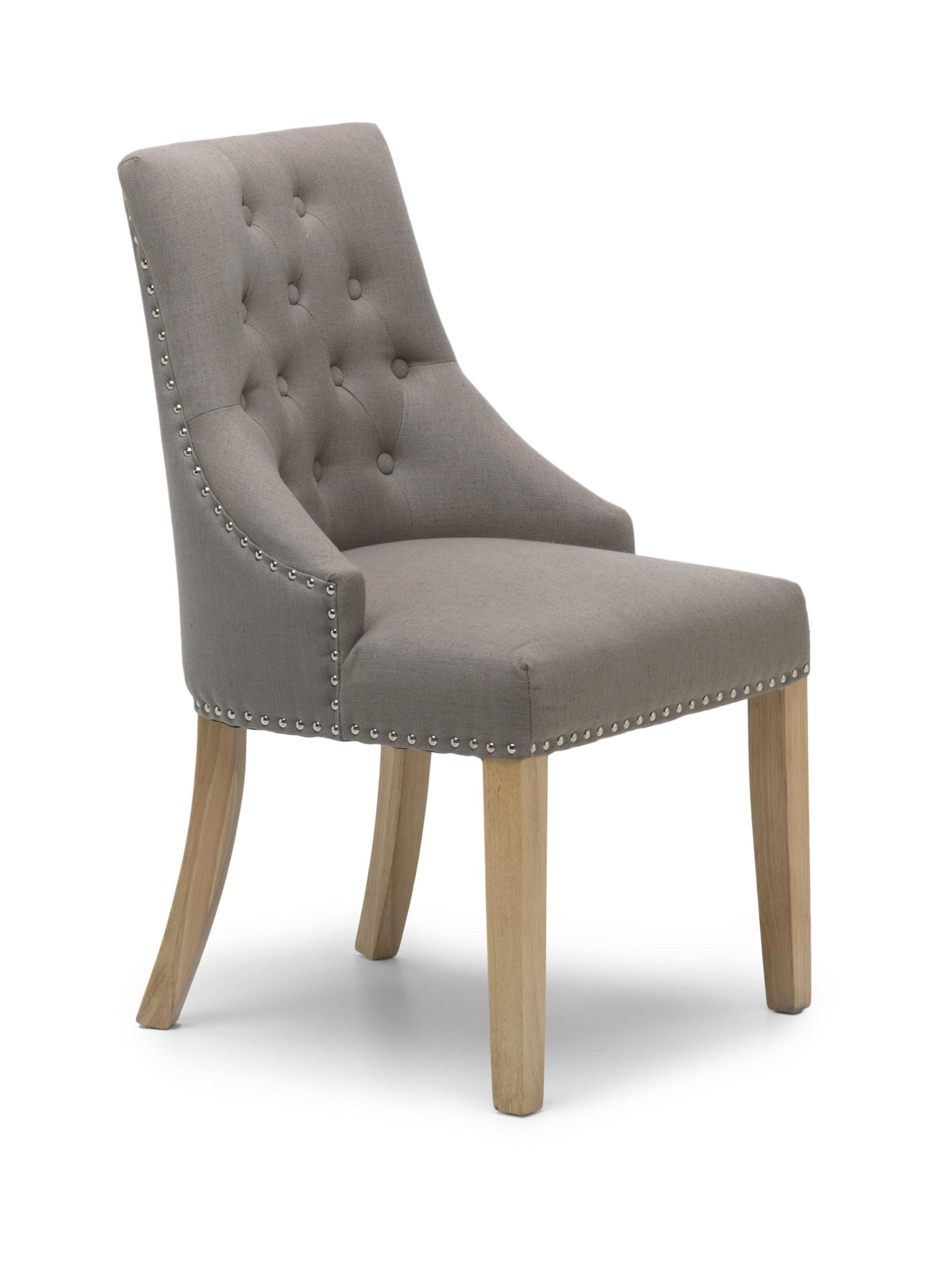 Camberwell Fawn Linen Style Accent Chair-fabric accent chair-shankar-GoFurn Furniture Store Kent