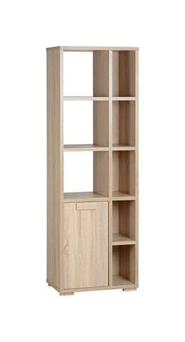 Cambourne 1 Door 5 Shelf Tall Bookcase Unit by Seconique