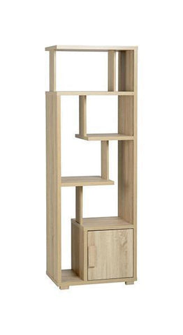 Cambourne 1 Door Display Tall Bookcase Unit-Bookcases-Seconique-GoFurn Furniture Store Kent