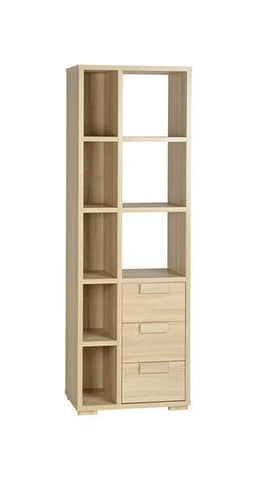 Cambourne 3 Drawer 8 Shelf Tall Bookcase Unit-Bookcases-Seconique-GoFurn Furniture Store Kent