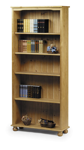 Cambridge Bookcase in Solid Pine-Pine Bookcases-Julian Bowen-GoFurn Furniture Store Kent