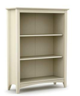 Cameo Stone White Bookcase-White Bookcases-Julian Bowen-GoFurn Furniture Store Kent