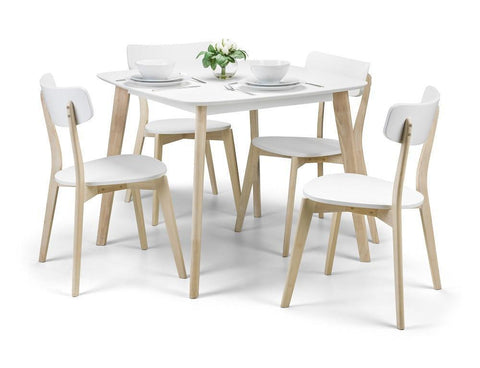 Casa Retro Dining Set With 4 Chairs-Dining Sets-Julian Bowen-GoFurn Furniture Store Kent