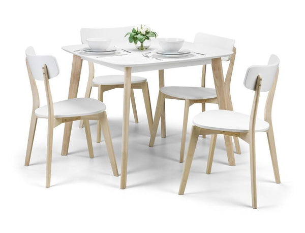 Casa Retro Dining Table Set With 2 Chairs-Dining Sets-Julian Bowen-GoFurn Furniture Store Kent